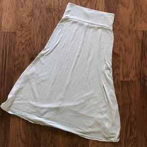 Dresses & Skirts - Mint Green & Gray Maxi Skirt